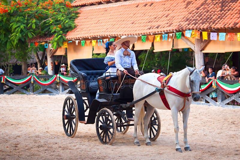 Esposizione messicana tradizionale di Charra di festa fotografie stock libere da diritti