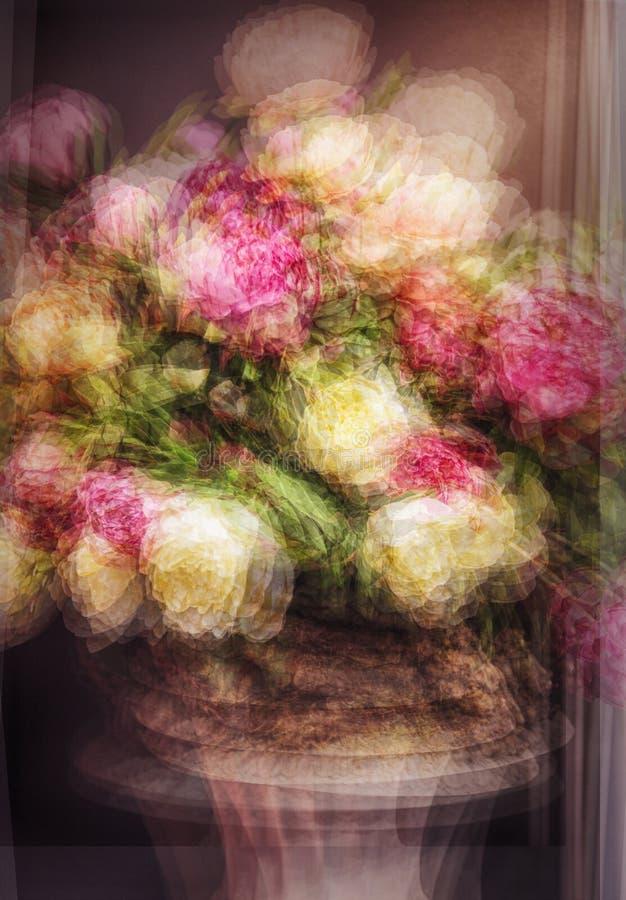 Esposizione multipla dei fiori immagini stock