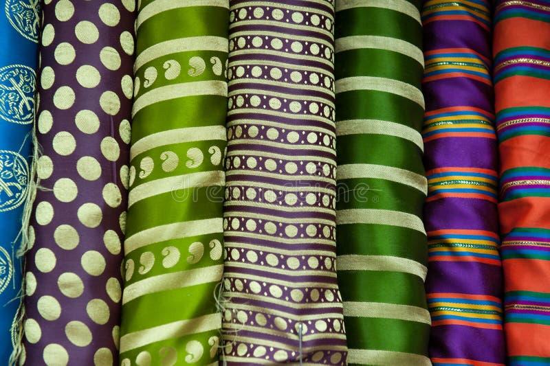Esposizione a strisce del tessuto fotografia stock