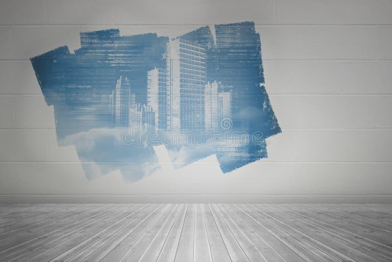 Esposizione sulla parete che mostra progettazione di tecnologia illustrazione vettoriale