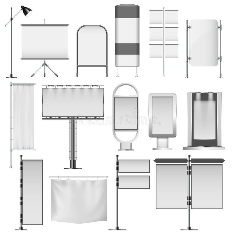 Esposizioni e tabelloni per le affissioni illustrazione vettoriale