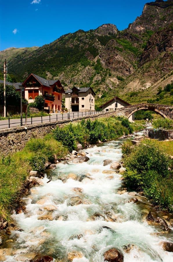 Espot van de stad van Noord- rivierEserita Spanje stock foto's