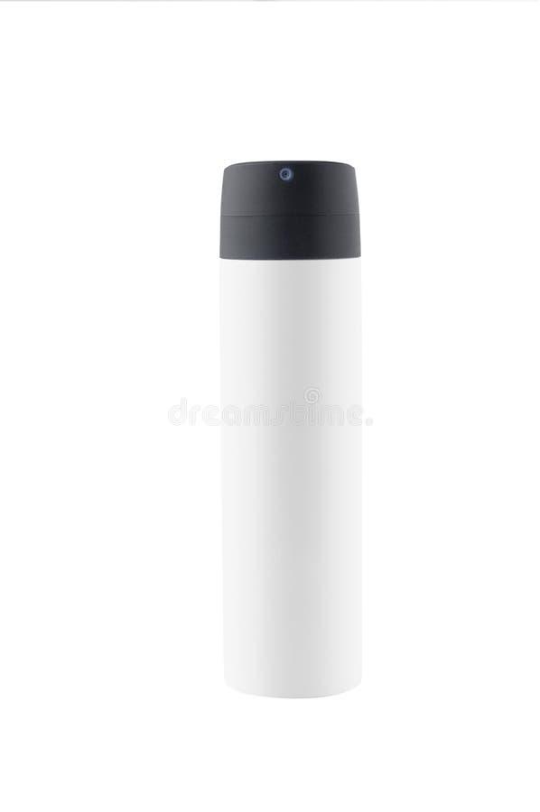 Espray antitranspirante del desodorante aislado en blanco fotografía de archivo libre de regalías
