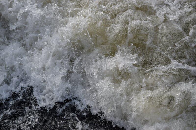 Espray de agua del movimiento del helada imagen de archivo