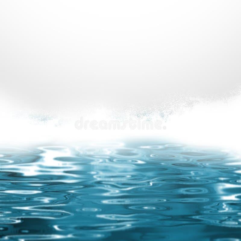 Espray de mar - fondo abstracto del agua azul stock de ilustración