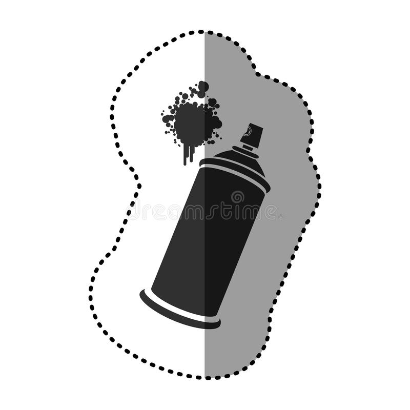 esprayes de aerosol negros con un icono de la mancha stock de ilustración