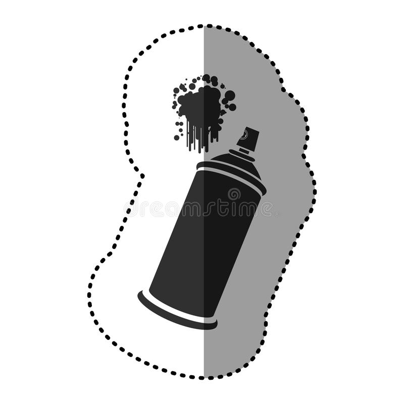 esprayes de aerosol negros con un icono de la mancha libre illustration