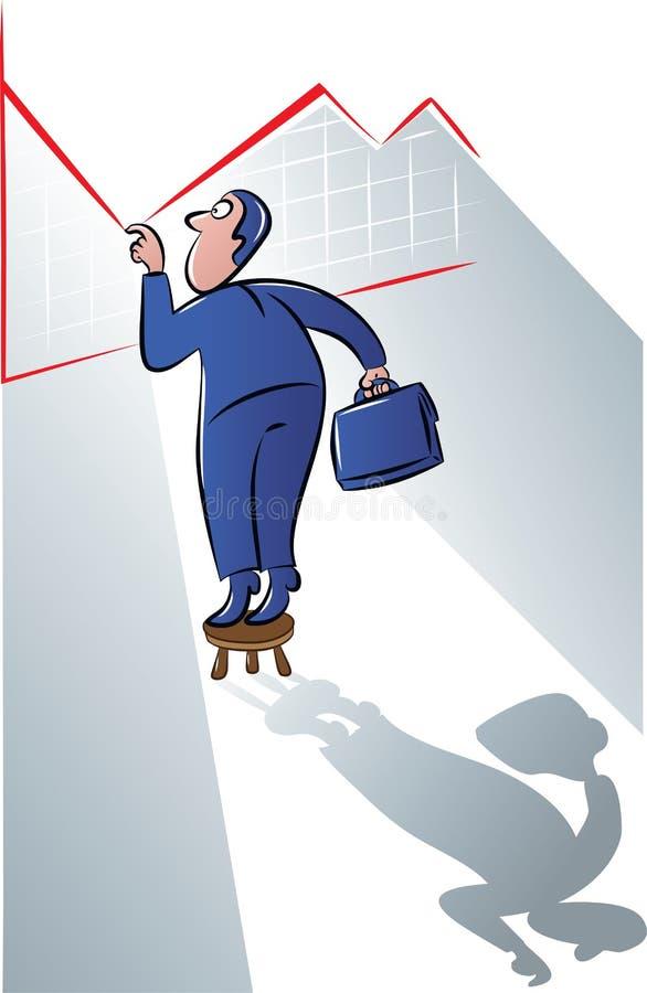 Espreitar do homem de negócios ilustração do vetor