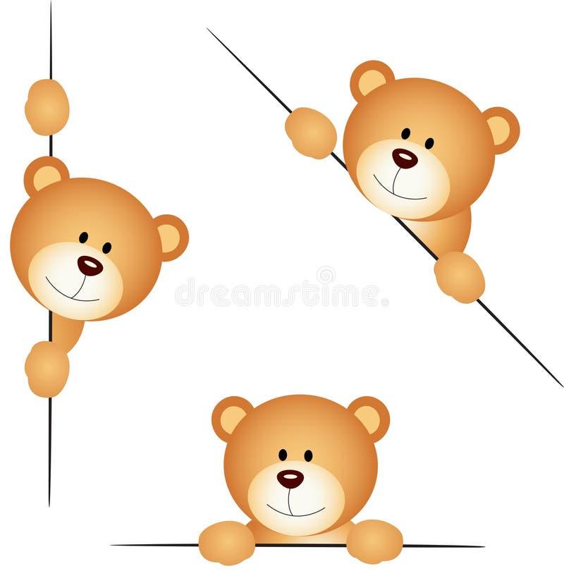 Espreitar do urso de peluche ilustração stock