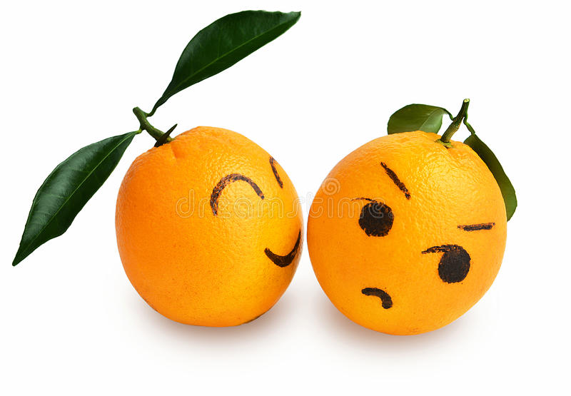 Espressione arancio fresca degli amanti fumetto, manifesto creativo fotografia stock libera da diritti