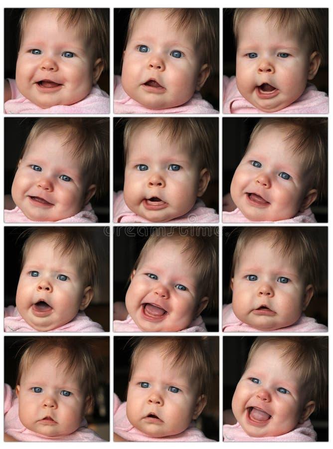 Espressione differente immagini stock libere da diritti