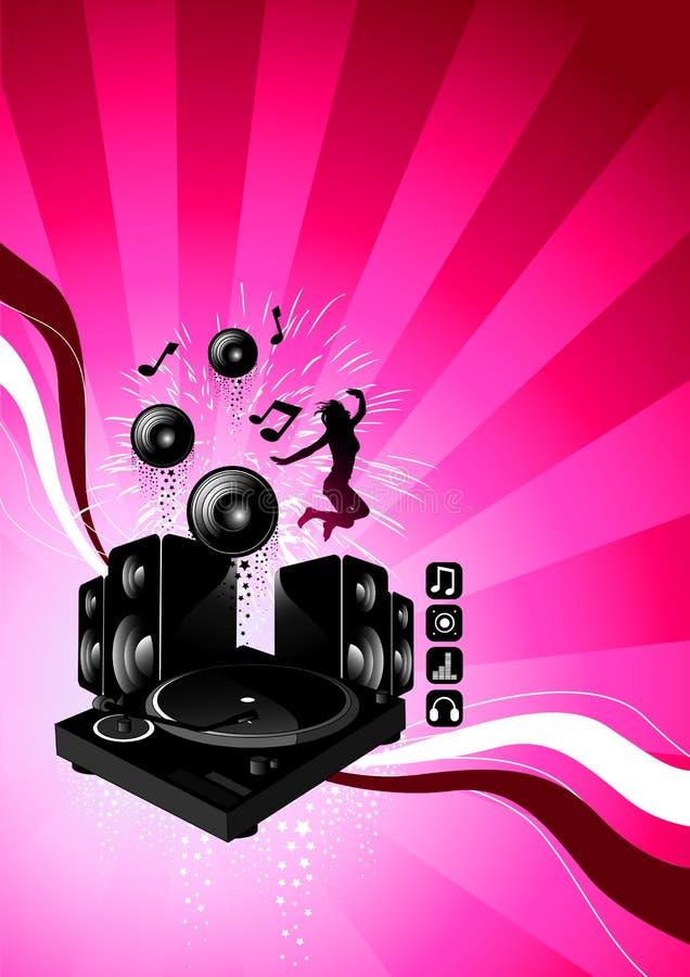 Espressione elettrica di musica illustrazione di stock