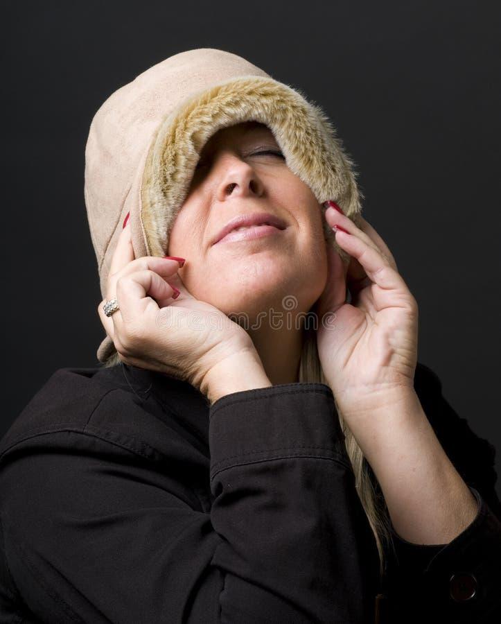 Espressione felice della donna graziosa di Medio Evo fotografia stock libera da diritti