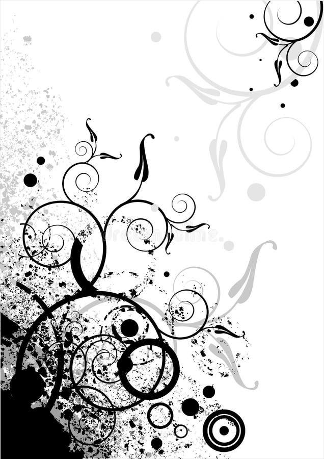 Espressione floreale v-1 illustrazione vettoriale