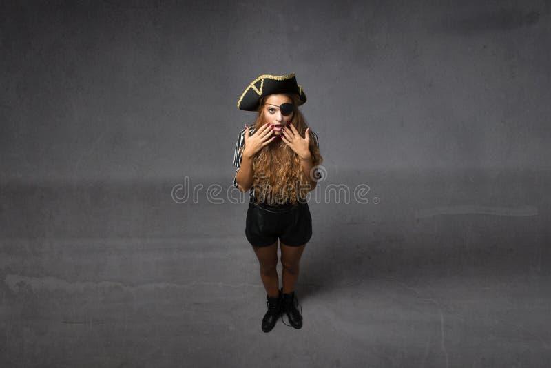 Espressione incredibile del pirata fotografia stock