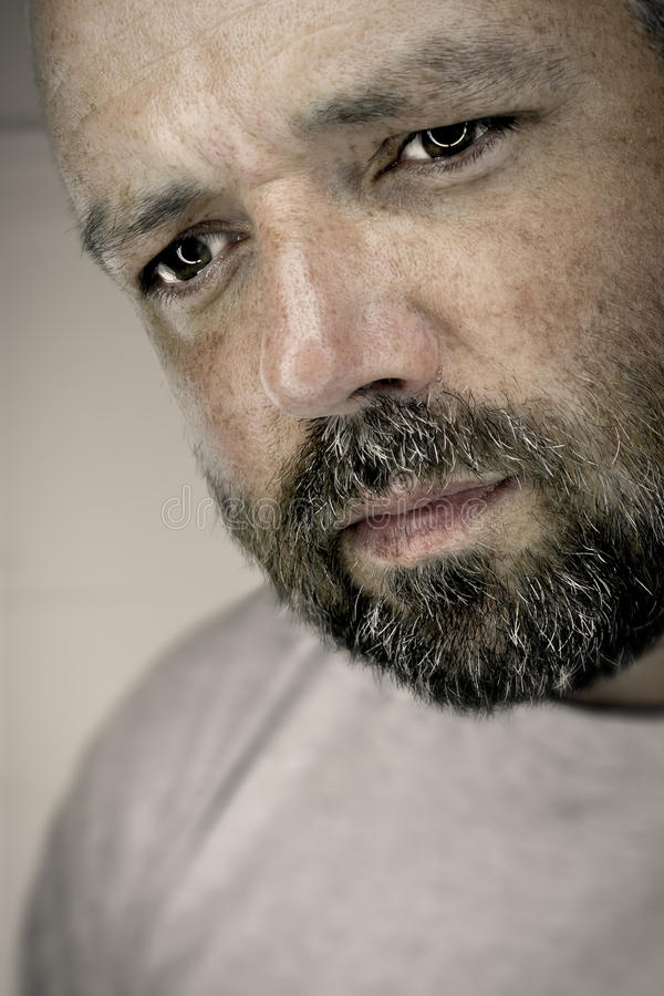 Espressione Maschio Malinconica Immagini Stock Libere da Diritti