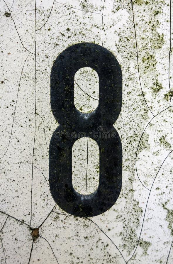 Espressione scritta nello stato afflitto numero trovato tipografia otto 8 fotografie stock