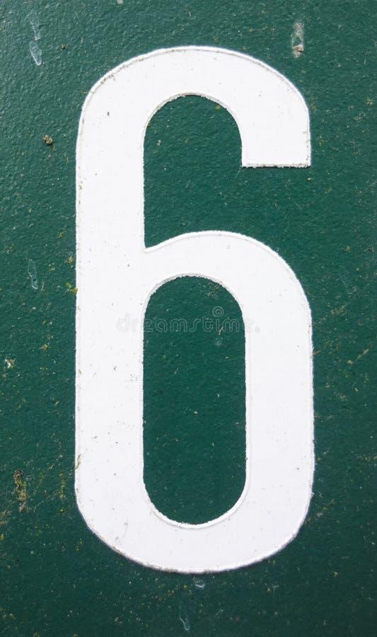 Espressione scritta nello stato afflitto numero trovato tipografia sei 6 immagini stock
