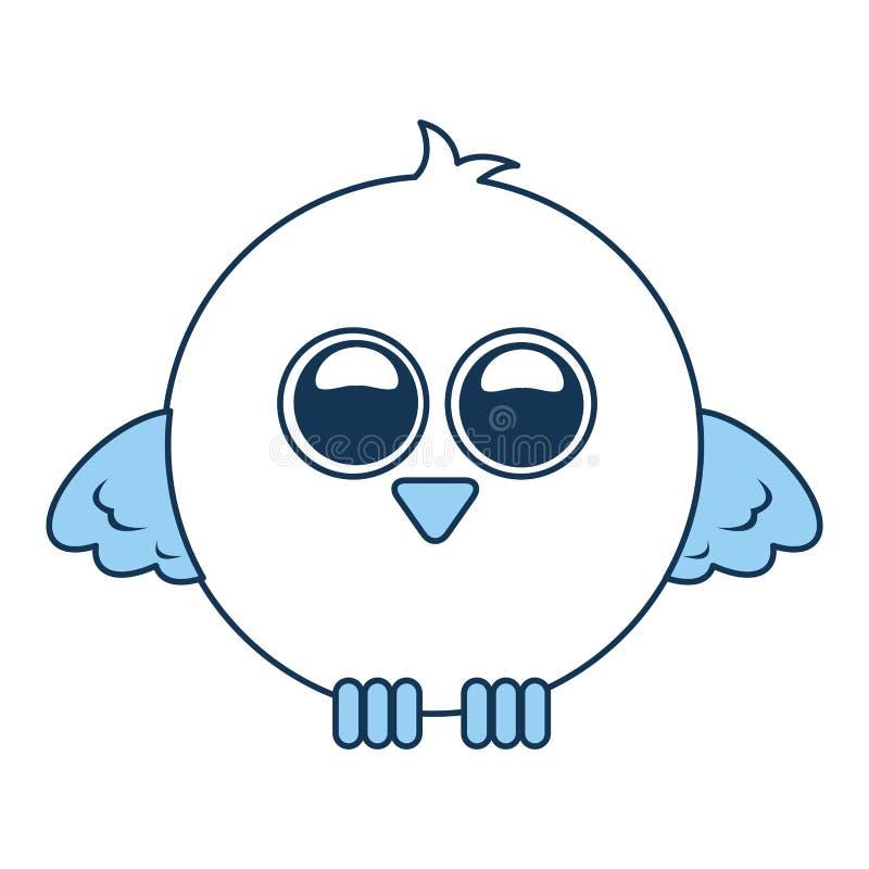 Espressione sveglia dell'uccello comica royalty illustrazione gratis