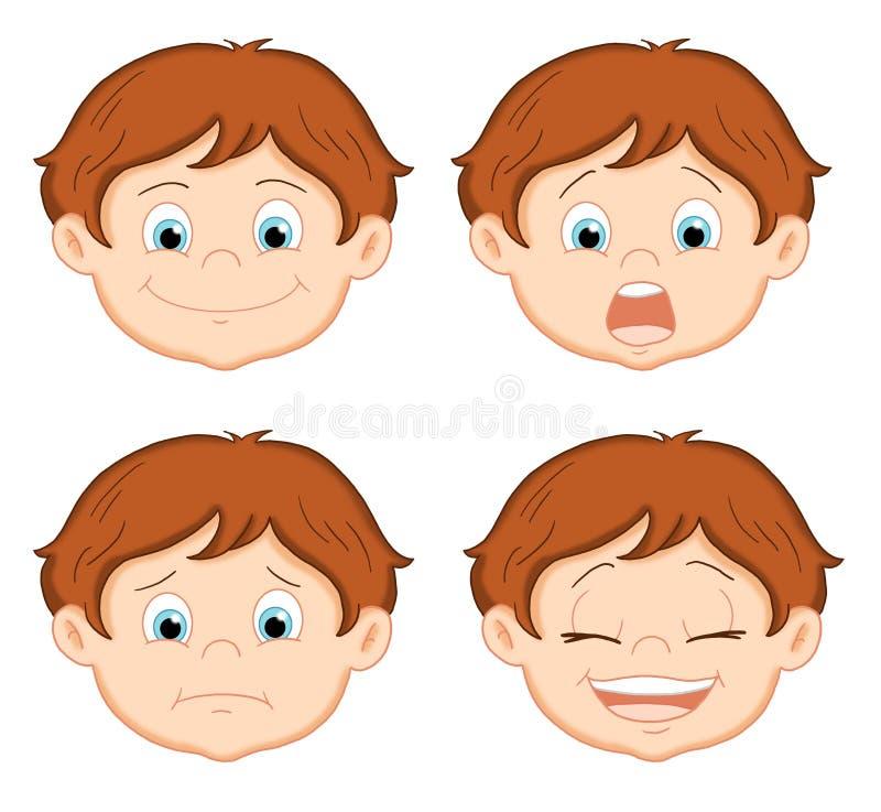 Espressioni 1 illustrazione di stock