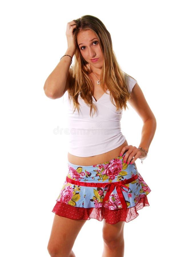 Download Espressioni Bionde Sconcertate Fotografia Stock - Immagine di perplexed, donna: 221210