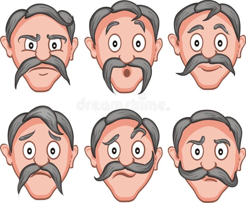 Espressioni facciali 1 royalty illustrazione gratis