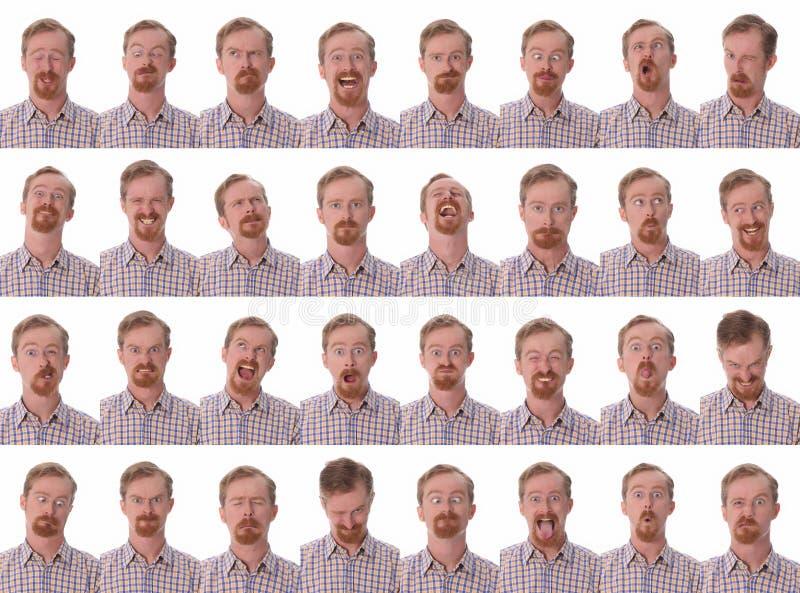 Espressioni facciali fotografie stock
