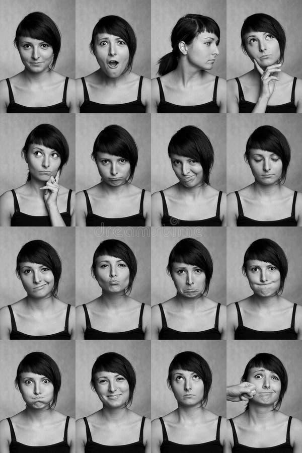 Espressioni facciali utili. Fronti dell'attore. immagine stock libera da diritti