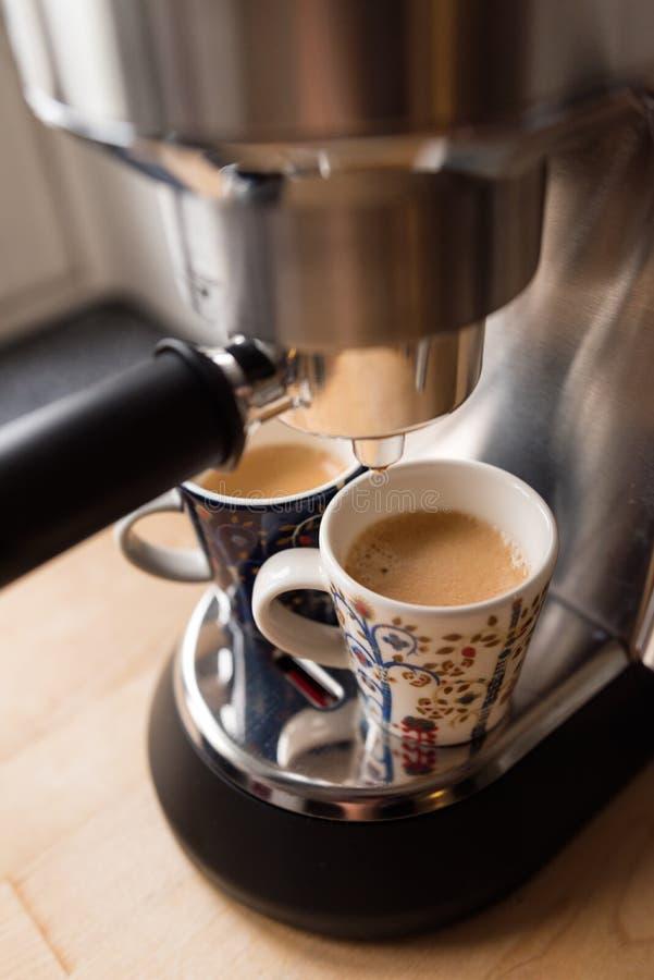 espresso δύο φλυτζανιών στοκ φωτογραφίες