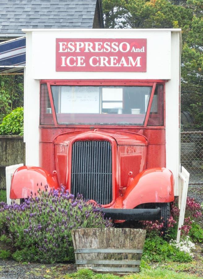 Espresso και παγωτό στοκ φωτογραφία