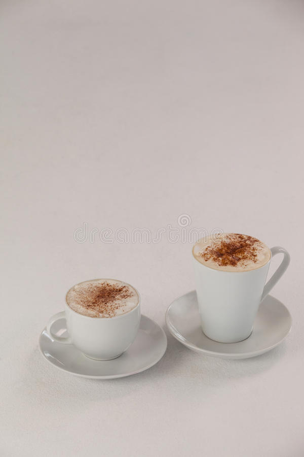 espresso δύο φλυτζανιών καφέ στοκ εικόνες