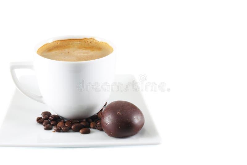 espresso кофейной чашки фасолей стоковое фото