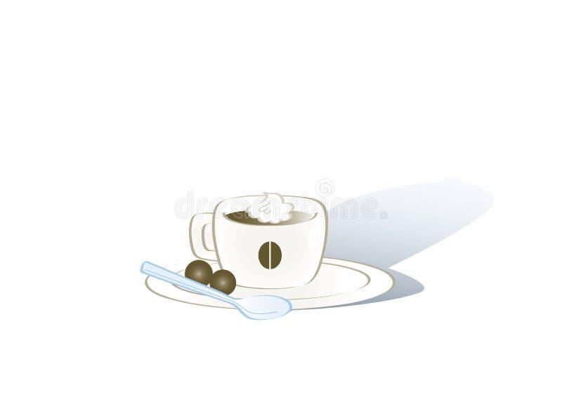 espresso кофейной чашки иллюстрация штока