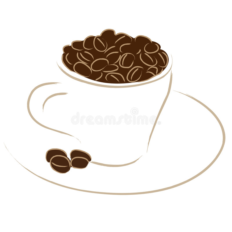 espresso кофейной чашки иллюстрация вектора
