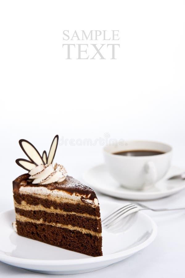 espresso кофе шоколада торта наслаивает 3 стоковая фотография