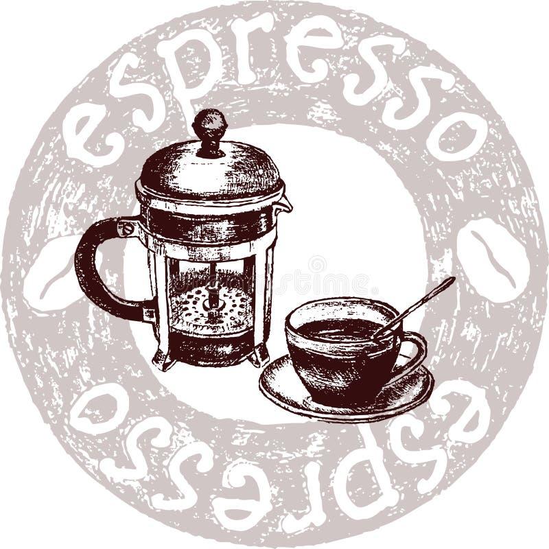 espresso кофе иллюстрация вектора