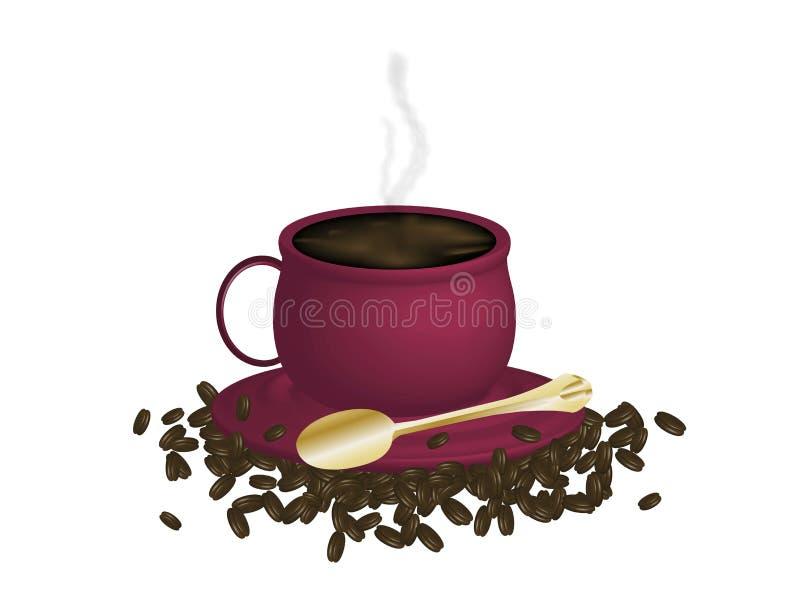 espresso фасолей бесплатная иллюстрация