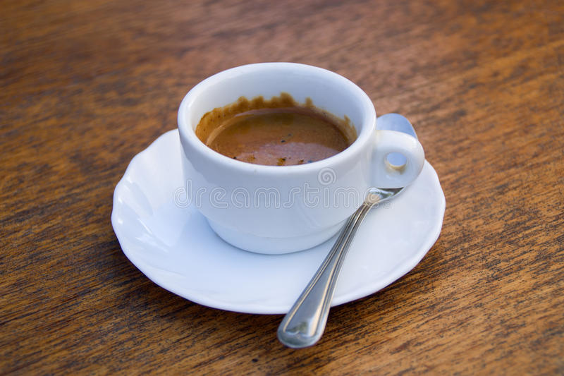 Download Espresso stock photo. Image of tables, italy, wood, teaspoon - 27214104