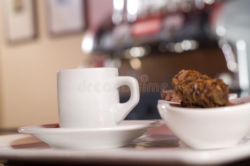 Espresso. Morning espresso in caffee bar stock image