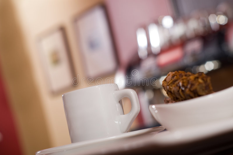 Espresso. Morning espresso in caffee bar royalty free stock image