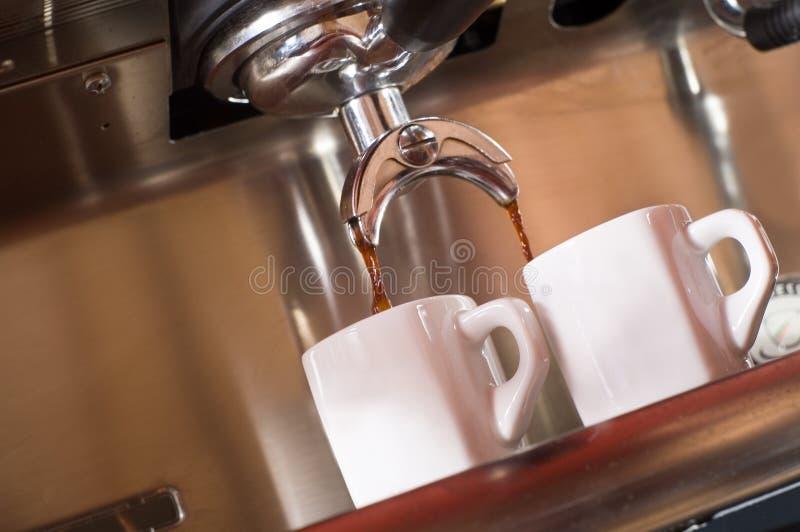 Espresso. Morning espresso in caffee bar stock photo