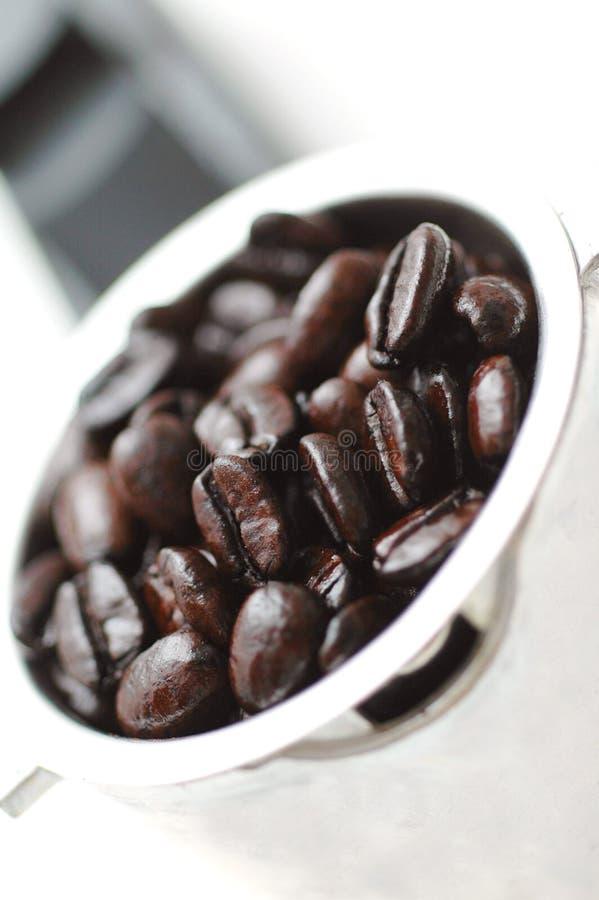Espresso-Bohnen lizenzfreie stockbilder