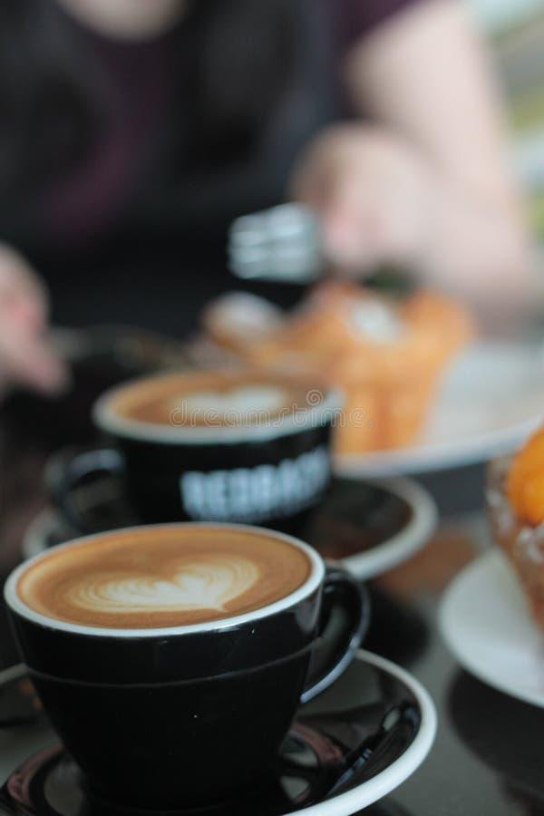 Espresso cappucino καφέ τέχνης Latte latteart flatwhite στοκ φωτογραφία