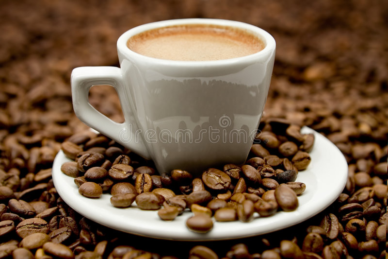 espresso coffe фасолей стоковая фотография rf