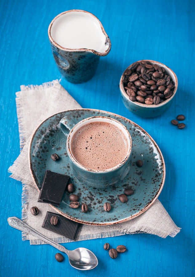 Download Espresso Coffee With Chocolate Stock Image - Image of break, chocolate: 28680549