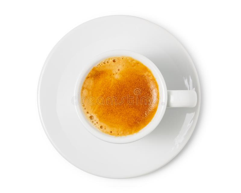 Espresso coffee cup isolated on white background. with clipping path.  royalty free stock images