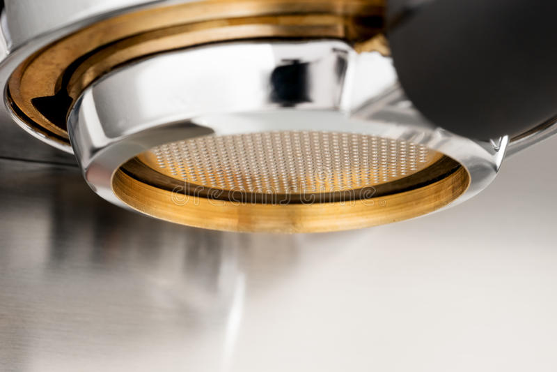 Espresso coffee extraction stock photography