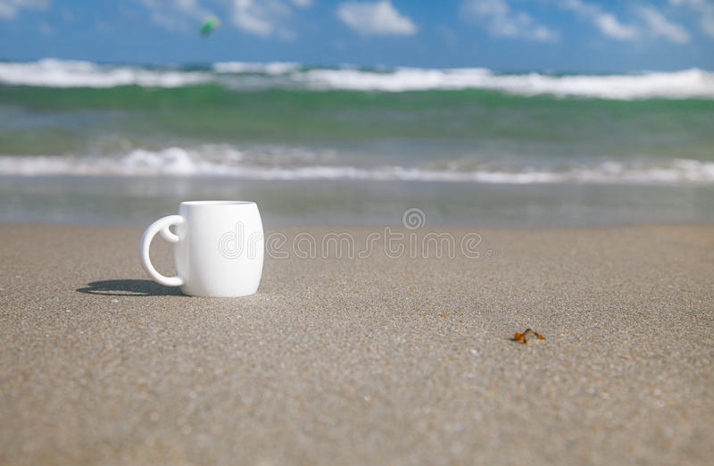 Download Espresso Coffee In White Cup With Ocean Stock Photo - Image of motion, freshness: 25018494
