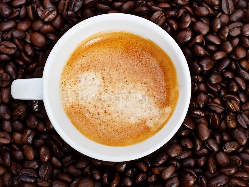 Download Espresso Cup In Coffee Beans Stock Image - Image: 14059459