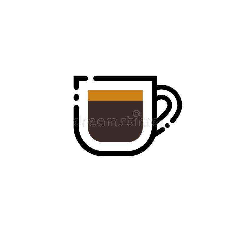 Download Espresso De Illustratie Van De De Lijnkunst Van De Koffiekop De Kop Van Het Lijnpictogram Vector Illustratie - Illustratie bestaande uit drank, hitte: 107700313